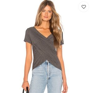 About Us Grey Crossover Top